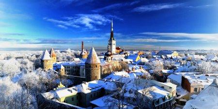 Заснеженный город Таллин - Путешествуем по Эстонии