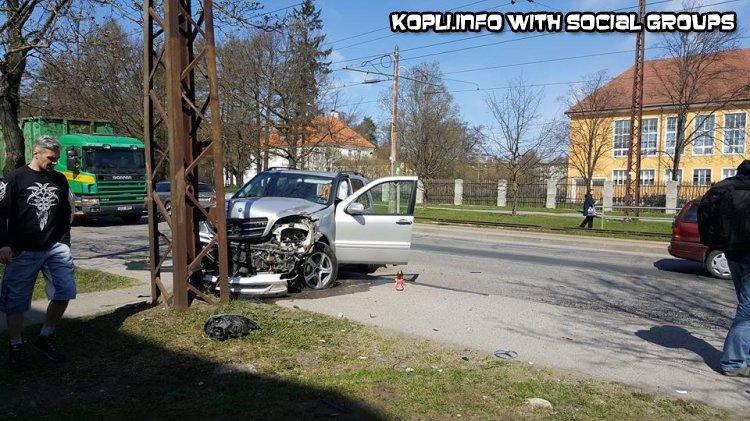 Авария в Копли около школы TKG - Путешествуем по Эстонии