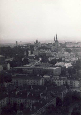 Вид на старый город с гост. Олимпия 1979 г - Путешествуем по Эстонии