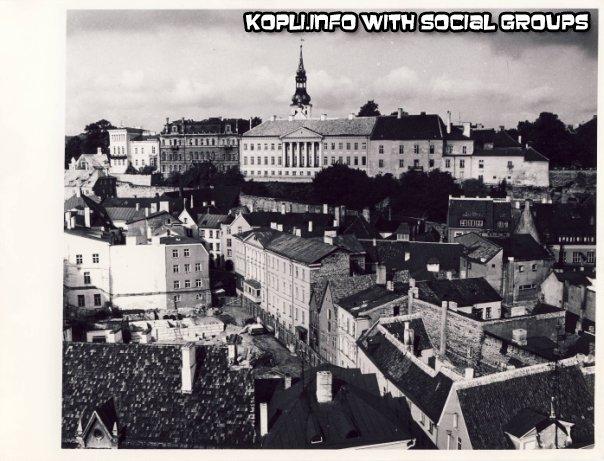 Вид с ратуши на ул. Дункри 1970-е - Путешествуем по Эстонии